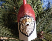 Hand Carved Santa on an nautical bouy by: G. Roush