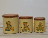 1960s Decor Ware Tin  Cannister Set