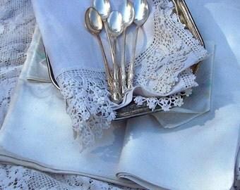 5 Silver Iced Tea Spoons