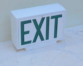 Steel Industrial  Exit Sign