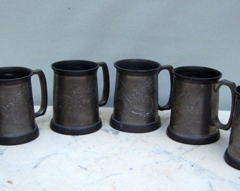 Pewter Dragon Mugs