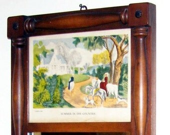 Mirror With Currier and Ives Print