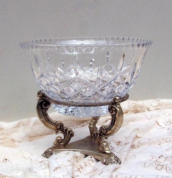 Godinger Silver Pedestal With Pressed Glass Bowl