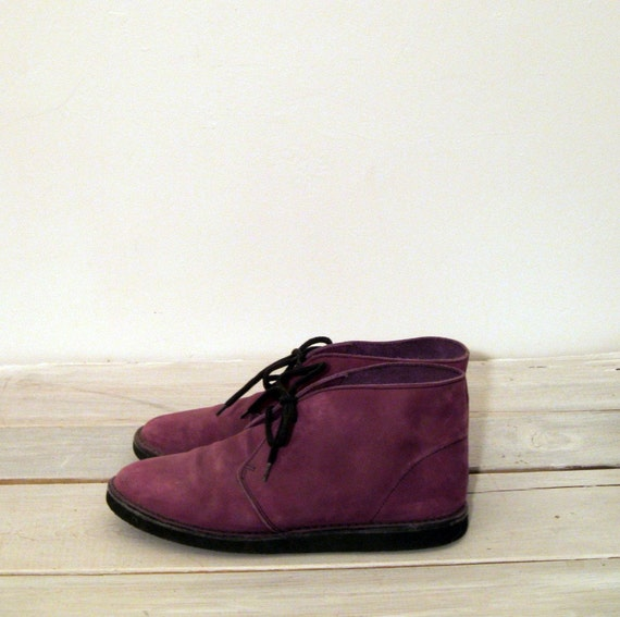Purple Suede Desert Boots  size 7 5