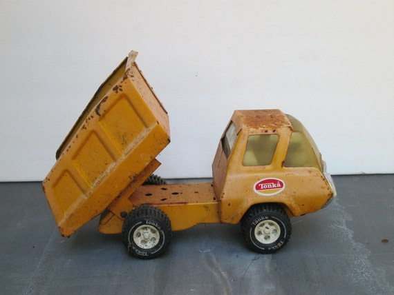 Old Rusty Steel Tonka Dump Truck