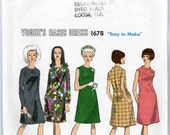 Vogue Sewing Pattern-Basic Dress 1678- Vintage 1960's