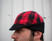 the Lumbering Jack flannel winter cap (treasury featured)