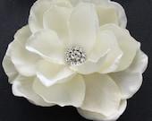 Bridal Hair flower Handmade Ivory  wedding hair flower clip or comb- Victoria Gardenia