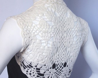 Cashmere bridal bolero shrug -- short jacket size S M L custom 11 colors