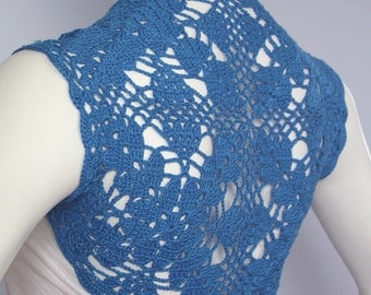 Custom - Plus size azure blue shrug
