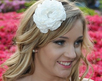 Peony bridal Hair Flower comb / Clip wedding head Piece - Jace