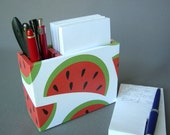 Watermelon Pencil Cup AND Paper Holder for the kitchen