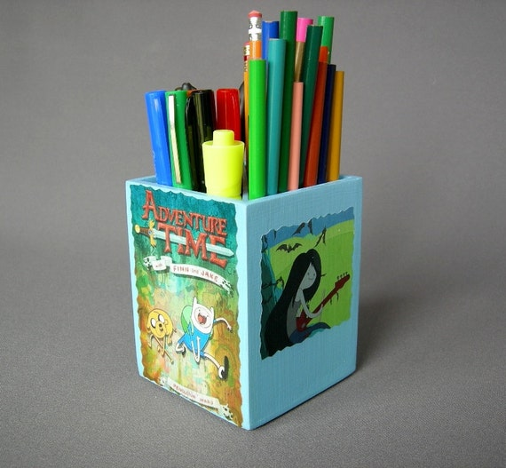 Adventure Time inspired Pencil Cup