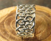 Spiral Woven Argentium Sterling Silver Ring