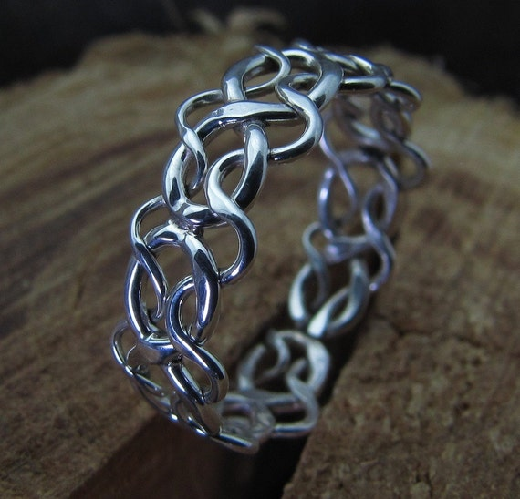 celtic woven argentium sterling silver ring