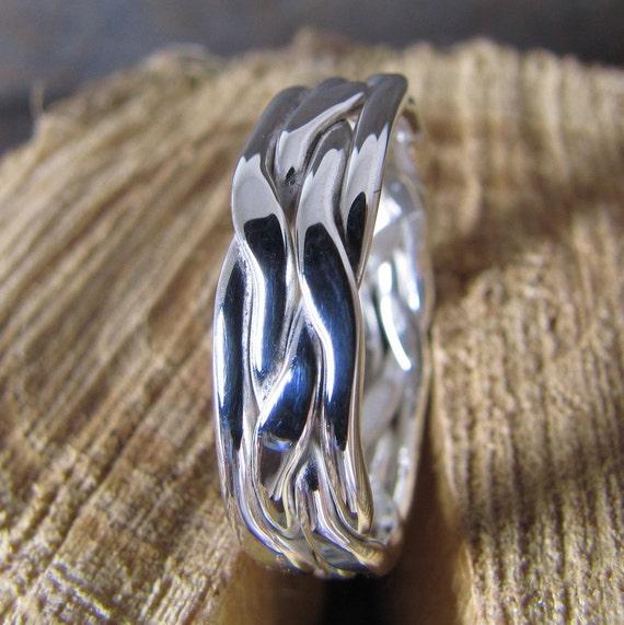 Man's Silver Ring, Man's Wedding Band
