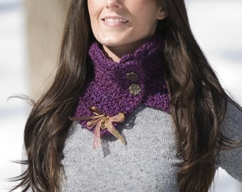 Violet Star Scarflette Crochet Pattern PDF