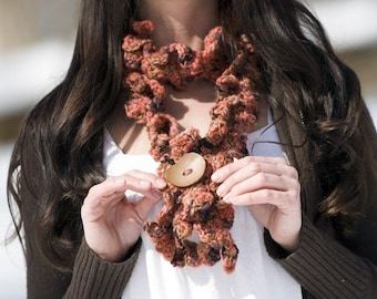 Falling Leaf Scarf Crochet Pattern PDF