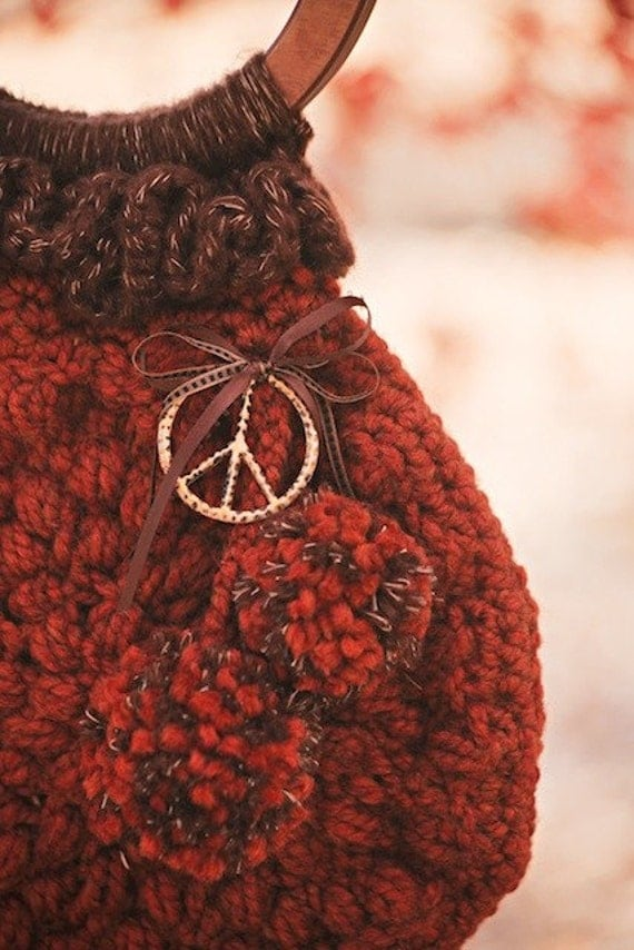 Pretty Pine Cone Purse Crochet Pattern PDF from JackieMoon on Etsy Studio