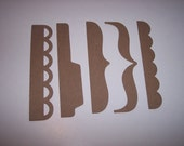 Fancy Accents Set of 20 Chipboard