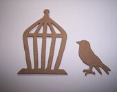 New Mini Bird and Cage set of 6