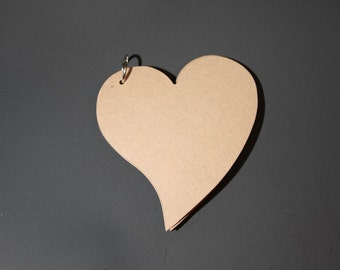 Heart Chipboard Mini Album