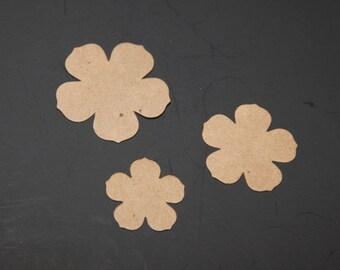 Die Cut Flowers set of 18