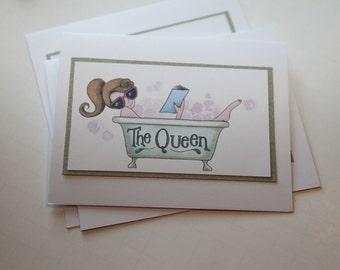 The Queen Greeting Card Set of 4