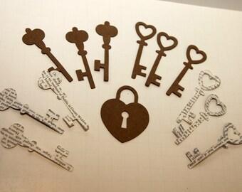 Chipboard Keys and Locket