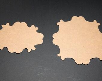 Vintage Chipboard Die Cut Set of 16