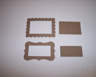 Scallop and Fancy Chipboard Frames Set of 8