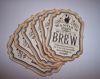 Witchs Brew Tags set of 6
