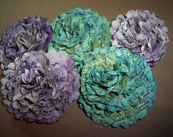 Hand Made Vintage Music Sheet Flowers