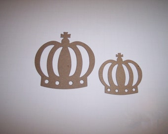 Crowns Die Cut set of 6