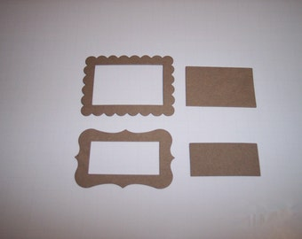 Scallop and Fancy Chipboard Frames