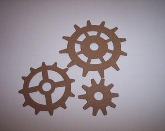 Die Cut Gears Set of  12