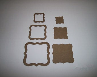 Fancy Frame Trio Chipboard Set of 6