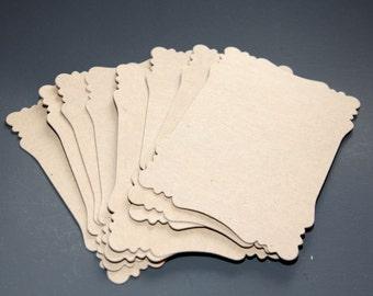 Victorian Chipboard Die Cut Set of 8