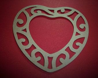 Fancy Heart Frame Die Cut set of 4