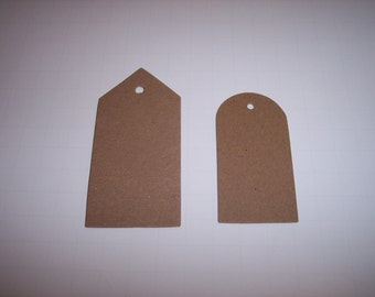 Die Cut Tags Two Sizes Set of 20