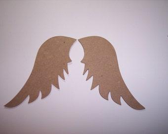 Angel Wings Die Cut of Chipboard Set of 8