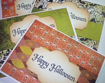 Happy Halloween Greeting Cards Set of 4