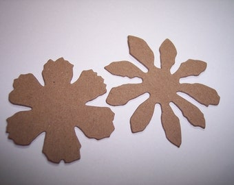 Tattered Flowers Chipboard Die Cuts Set of 6
