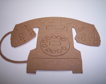 New Tim Holtz Large Telephone Die Cut Set Of 3