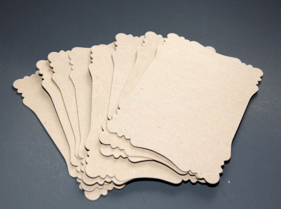 Victorian Chipboard Die Cut Set of 8