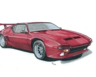 86 Red Pantera GT5 Print