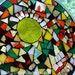 Stained Glass, Mosaic, Abstract, Geometric, Trivet,  Fall Colors, Autumn, Sun Catcher, Birthday, Wedding, Anniversary