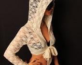 Womens clothing-womens blouse-long sleeves top-wrap top/shirt-Yoga top /wrap tops/