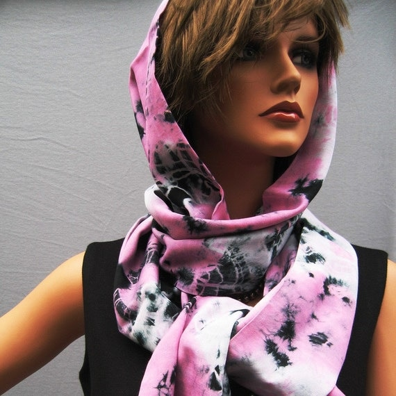 Handmade scarf  with hood ID39