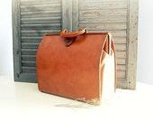 Vintage Tan Leather Briefcase
